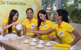 """Team Sang cầm hoa, thí sinh """"Hoa hậu Hoàn vũ VN"""" thì phải... gần ấm trà mới được nói!"""