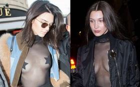 """Kendall Jenner và Bella Hadid """"thả rông"""" táo bạo đến nhức mắt giữa trời lạnh 6 độ C"""