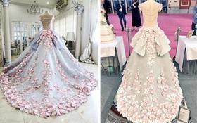Chiêm ngưỡng chiếc bánh gato váy cưới đẹp lộng lẫy như trong cổ tích