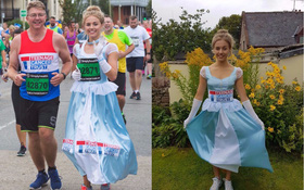 """Mặc váy công chúa Lọ Lem thi chạy marathon, cô bạn bị nhiều người bảo """"làm lố"""" nhưng lý do thực sự lại rất cảm động"""