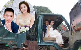 Chào đón con đầu lòng, chú rể chia sẻ lại bộ ảnh kỷ niệm rước dâu bằng xe chở gỗ khiến dân mạng thích thú