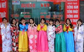 Ngày hội văn hóa, ẩm thực chào xuân 2018 tại trung tâm ngoại ngữ Hà Nội