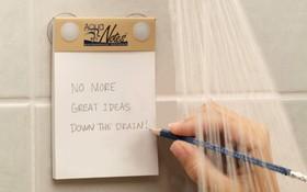 """Giấy nhớ chống thấm nước: Phát kiến vĩ đại cho hội """"thiên tài trong nhà tắm"""""""