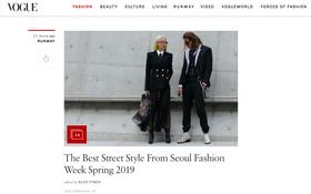 Mới ngày đầu ra quân tại SFW mà bộ đôi Phí Phương Anh cùng stylist đã lên ngay trang chủ của Vogue