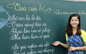 Gặp 18 cô giáo Quảng Trị viết chữ đẹp như vẽ tranh vừa gây sốt MXH: Học sinh trong trường chữ cũng siêu đẹp