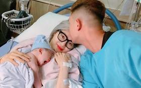 Em gái ca sĩ Quang Vinh sinh con gái đầu lòng sau 9 năm gắn bó cùng chồng cơ trưởng điển trai