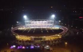 Quang cảnh sân Mỹ Đình tuyệt đẹp một tiếng trước giờ bóng lăn nhìn từ flycam