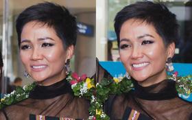 Kiêu hãnh trên đất khách, H'Hen Niê bật khóc tại sân bay Việt Nam sau thành tích lịch sử Top 5 Miss Universe 2018