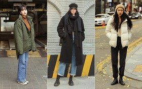 """Street style giới trẻ Hàn mang đến kho bí kíp mặc """"nhồi"""" mà vẫn trendy hết nấc ngày mưa rét, nhất là loạt công thức với áo phao"""