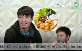 Đây là lý do trung vệ Bùi Tiến Dũng U23 Việt Nam lại mê nhất món bún đậu mắm tôm ở Hà Nội