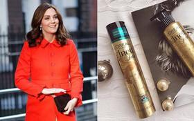Công nương Kate Middleton cũng chỉ dùng loại keo xịt tóc phổ biến có giá chưa đến 300.000VNĐ
