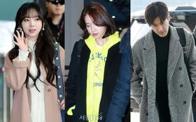 Yoona, EXO mệt mỏi nhưng sao vẫn đẹp lung linh, mỹ nhân Lovelyz bỗng chiếm hết spotlight tại sân bay