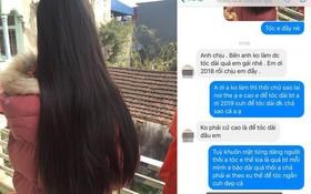 """Cô gái hỏi nhuộm tóc, chủ salon từ chối thẳng thừng vì tóc dài và lỗi thời: """"2018 rồi, chịu em đấy!"""""""