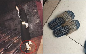 """Hà Nội: Xỏ dép Gucci 24 triệu đi làm móng, ra về cô gái tá hỏa khi hàng hiệu bỗng """"biến"""" thành... dép tổ ong"""