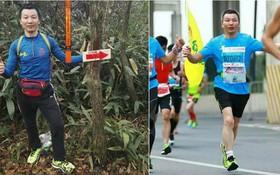 Thay vì chen chúc tàu xe, người đàn ông này quyết định chạy bộ 211 cây số về quê ăn Tết