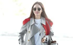 Choi Ji Woo trẻ trung diện đồ như gái đôi mươi sang London tham dự Tuần lễ thời trang