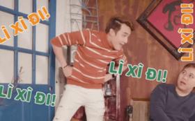 """Huỳnh Lập, Phương Ly, Hải Triều """"lầy lội"""" làm clip lì xì Tết khiến fan cười lăn lộn"""