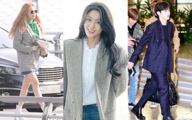Dàn sao đổ bộ sân bay sau Tết: Mỹ nhân thế hệ mới đẹp rực rỡ, Hyuna và SEVENTEEN sang chảnh như đi catwalk
