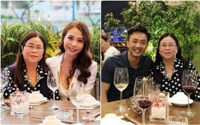 Sau khi công khai tình cảm, Cường Đô La rạng rỡ chụp hình cùng mẹ của Đàm Thu Trang