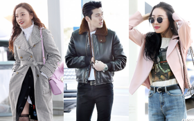 Đầu năm tài tử Hyun Bin đã đẹp không tưởng tại sân bay, Sunmi và Goo Hara sang chảnh như đi thảm đỏ