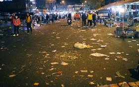 Du khách kết thúc kỳ nghỉ Tết nguyên đán tại Đà Lạt, thành phố lại ngập trong rác