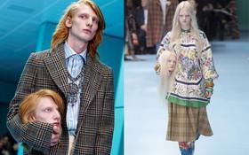 """Show mới của Gucci """"dị"""" quên lối về: Người mẫu ôm... thủ cấp để catwalk, kẻ lại vác nguyên con rồng"""