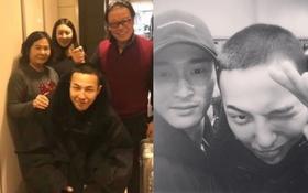 Hé lộ hình ảnh hiếm hoi mái đầu trọc của G-Dragon và vẻ mặt hớn bên bố mẹ trước khi nhập ngũ