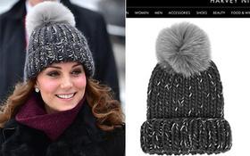 Công nương Kate Middleton bị phản đối vì diện mũ làm từ lông thú