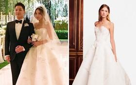 Chọn váy cưới đến từ nhà mốt thượng lưu, cô dâu Min Hyo Rin diện còn đẹp hơn cả người mẫu