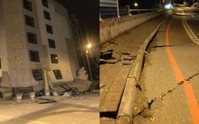 Đài Loan: Động đất mạnh 6 độ richter gây đổ sập nhiều toà nhà, hư hỏng đường sá