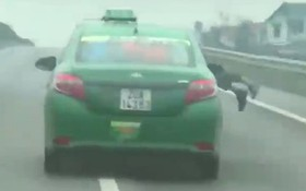 Chiến sỹ công an bị hất lên nóc ca-pô, tài xế vẫn cố tình lao vun vút trên đường cao tốc