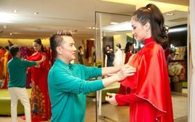 Đàm Vĩnh Hưng trực tiếp đưa Hương Giang đi thử áo dài chuẩn bị cho cuộc thi Hoa hậu Chuyển giới