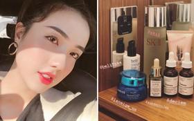 """Để có làn da căng bóng đáng ghen tị như hiện tại, Mie Nguyễn đã nhờ cậy đến """"gia tài"""" đồ dưỡng da này"""