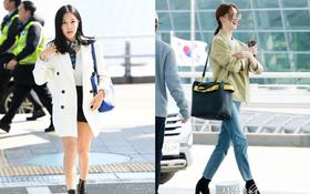 Mỹ nhân nhóm T-ara gây xôn xao với đôi chân dài khó tin, Yoona sang chảnh biến sân bay thành sàn diễn