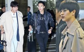 """""""Ngộ Không"""" Lee Seung Gi, Yook Sung Jae và dàn nghệ sĩ siêu hot đã ra sân bay Hàn, chuẩn bị đổ bộ Việt Nam vào tối nay"""