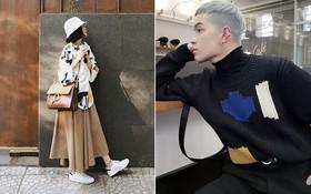 Vừa lên kệ, họa tiết mảng màu của H&M Studio đã được chưng diện toàn cầu, cánh fashionista Việt nào có kém cạnh