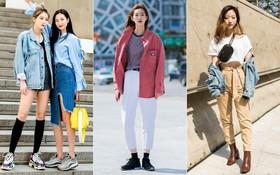 """Street style đơn giản, năng động của giới trẻ Hàn không những không nhàm chán mà còn khiến bạn thốt lên """"Đẹp quá đáng!"""""""