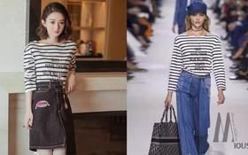 Mặc áo Dior nhưng Triệu Lệ Dĩnh lại bị mỉa mai rằng trông như đang diện đồ Taobao