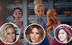 """Loạt """"công chúa Disney"""" Ashley Tisdale, Demi Lovato và Avril Lavigne hội tụ tại cuộc chiến giành trai... hoạt hình"""