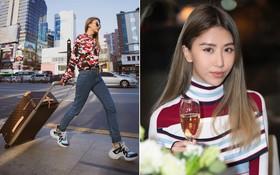 Vừa dứt kỳ nghỉ ở Mỹ, Quỳnh Anh Shyn đã bay thẳng qua Hàn ăn tối cùng Louis Vuitton