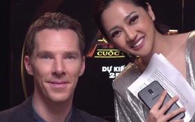 """Bảo Anh chụp ảnh với nam diễn viên """"Dr. Strange"""" Benedict Cumberbatch, nhưng hình như có gì đó sai sai?"""