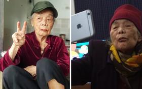 """Loạt ảnh bà chất tại cháu: Ngoại 90 tuổi """"bao"""" xì tin, tự cầm điện thoại selfie 1001 kiểu"""