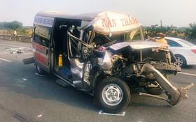 Chùm ảnh: Hiện trường vụ tai nạn liên hoàn trên cao tốc Long Thành - Dầu Giây vì khói rơm rạ mù mịt tấn công