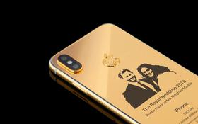 Bạn đã ngắm phiên bản iPhone X được mạ vàng, đính kim cương và khảm cả hình cưới cặp đôi Hoàng gia Anh này chưa?