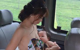 """""""Cô dâu cho con bú trên xe hoa"""" – Bức ảnh khiến ai cũng thấy rưng rưng xúc động lại có bí mật hậu trường thế này"""