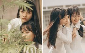 Cặp chị em sinh đôi Vũng Tàu sở hữu đôi mắt đẹp hút hồn trong loạt ảnh chia tay trường cấp 3