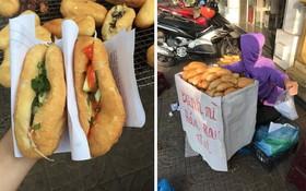 """Không phải bánh mì que, Hải Phòng có một món bánh mì """"huyền thoại"""" chỉ 5k/chiếc rất lạ"""