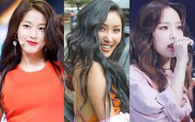 2 mỹ nhân nóng bỏng sinh năm 1995 lên top idol nữ hot nhất, SNSD rục rịch trở lại cũng đủ sức vào top 10