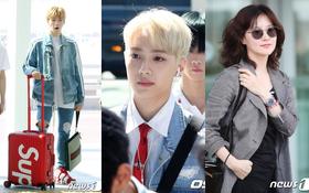Dàn sao Hàn đổ bộ sân bay: Lee Young Ae xuất hiện hiếm hoi, mỹ nam tiềm ẩn của Wanna One gây sốt chỉ vì... tóc mới