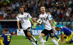 Đương kim vô địch Đức chết đi sống lại ở phút bù giờ, giành chiến thắng bóp nghẹt trái tim người hâm mộ